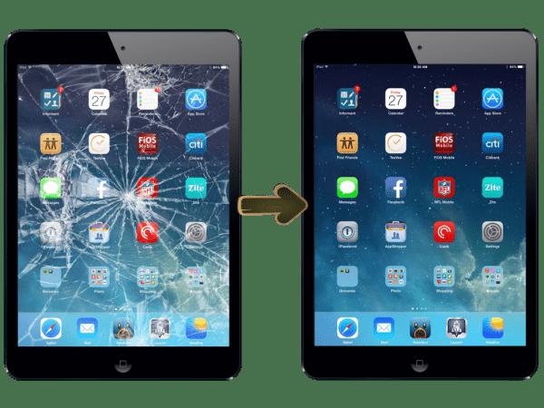 Rozbité sklo iPad