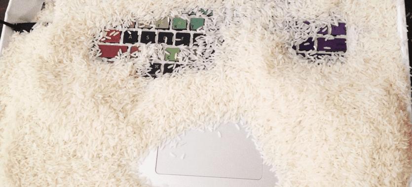 Rýže nevysuší Mac od tekutiny