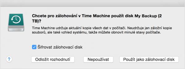 time machine podpora