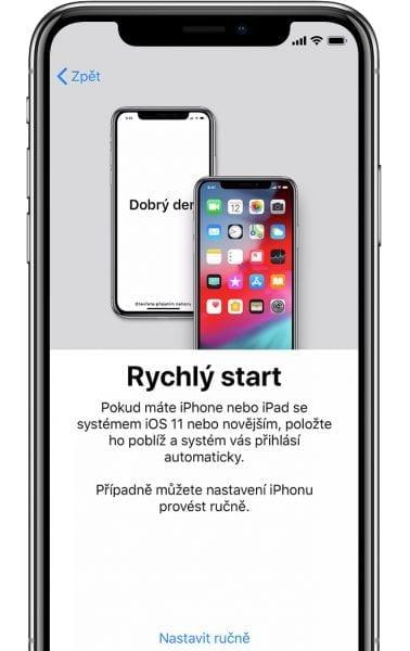 nové iOS zařízení - nastaveni