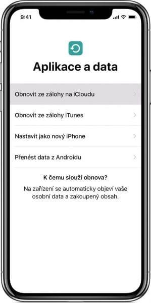 Jak se da prejit na nove zarizeni pomoci iCloud