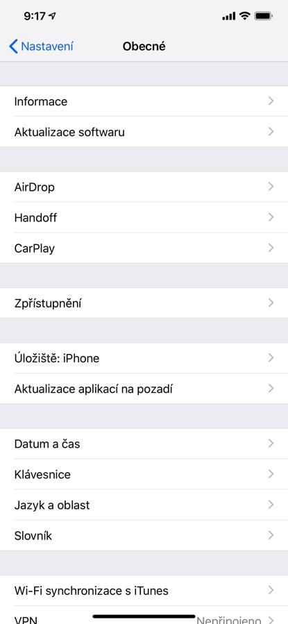 Jak aktualizovat iOS