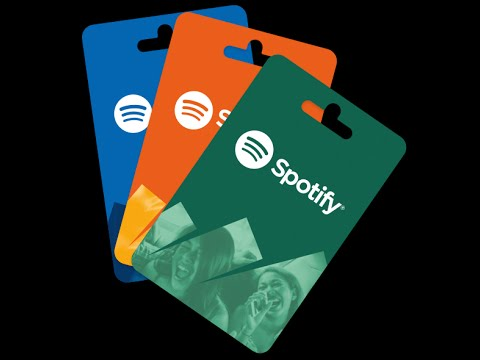 dárková karta spotify premium - poukazky
