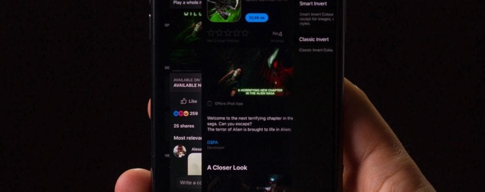 iOS 13 Dark Mode