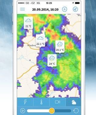 radarové snímky