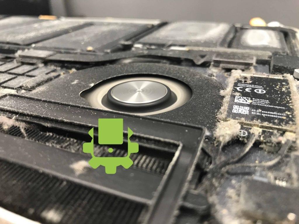 čištění macbooku