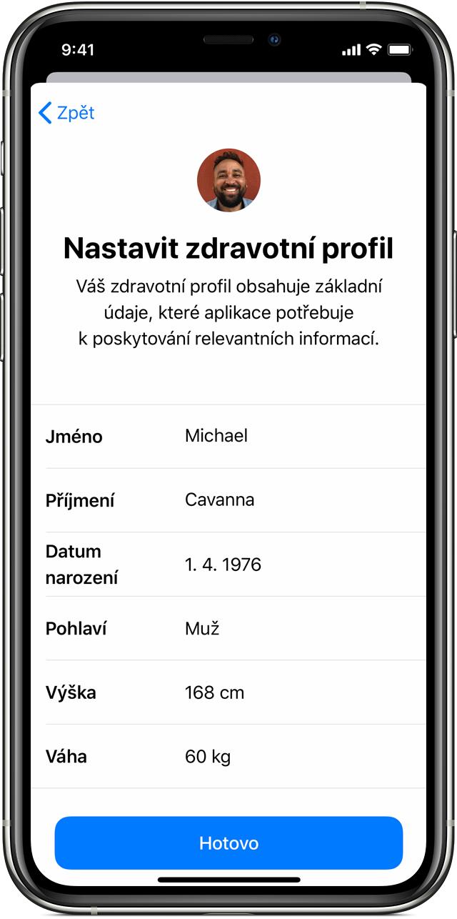 iOS 13 Zdraví
