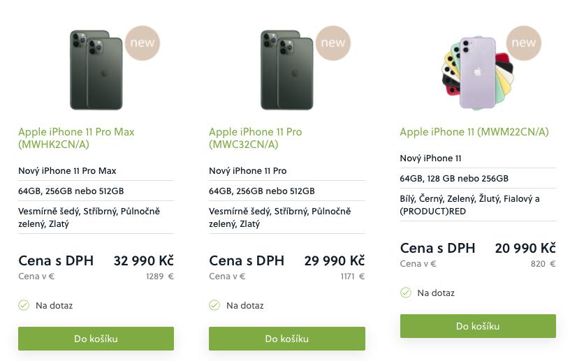 iPhone levně