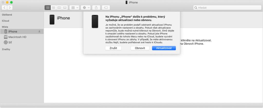 Obnovení iPhone