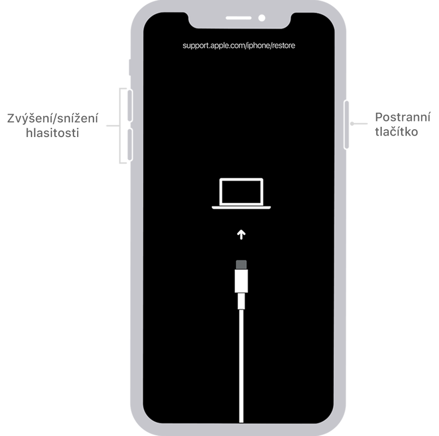 Odebrání kódu iPhone X