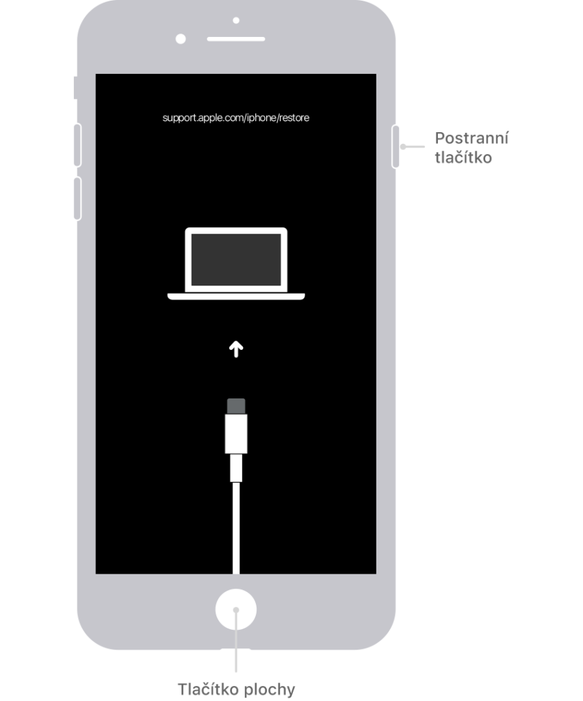 Odebrání kódu iPhone SE