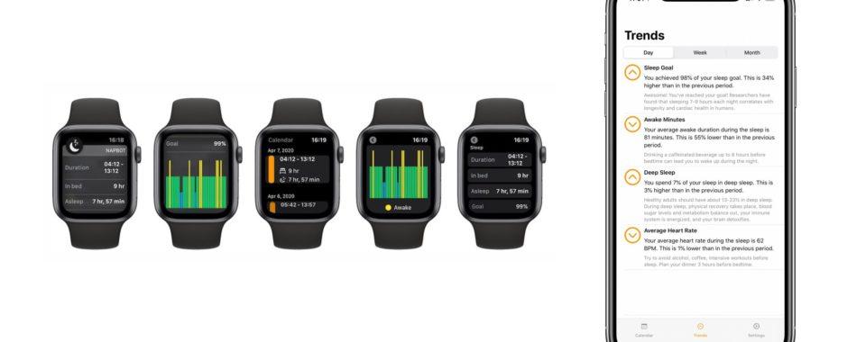 Apple Watch monitoring spánku