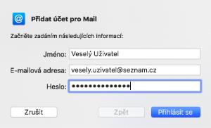 Seznam mail Mac