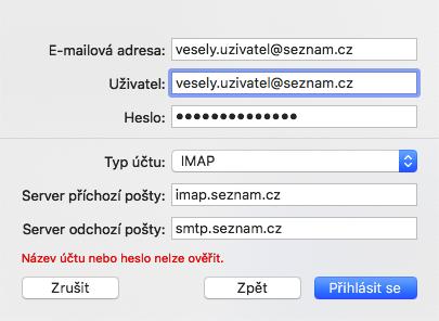 Seznam IMAP