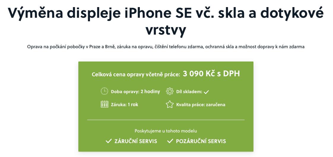 iPhone SE oprava