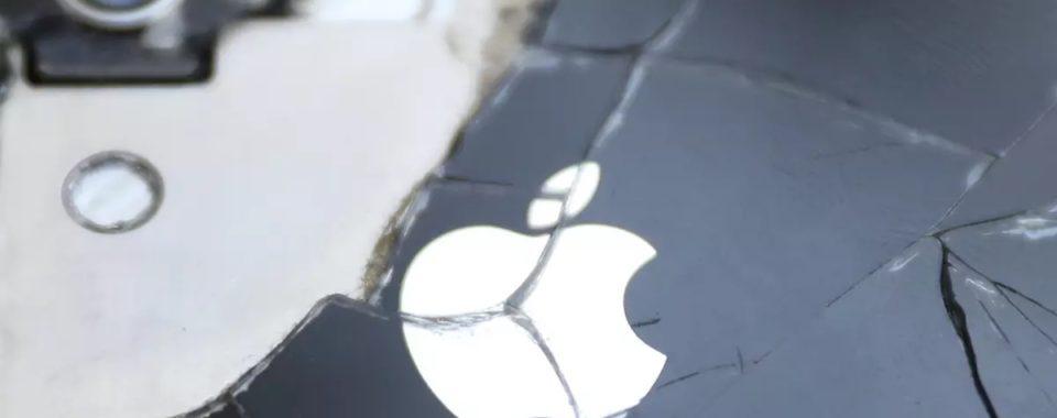 iPhone rozbitý