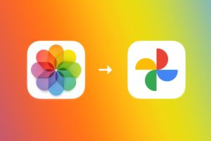 iCloud Fotky přenos Google