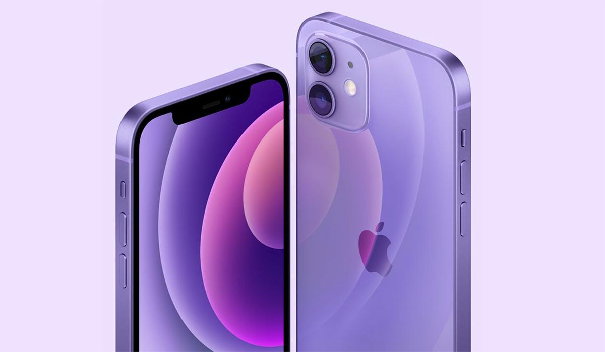 iPhone 12 fialový